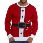 New Men's Chirstmas Cotton Overhead Crew Neck Sweaters