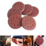 New 125MM 8 Holes Hook Loop Sanding Discs Orbit Sandpaper Mat 60/80/100/120/240Grit