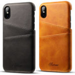 New Premium Cowhide Leather Card Slot Protective Case For iPhone XS
