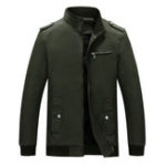 New Mens Fall Winter Epaulet Decoration Solid Color Casual Jacke