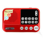 New NINTAUSE S99A Mini FM Pocket Stereo Radio Clock Pedometer Speaker MP3 Music Player
