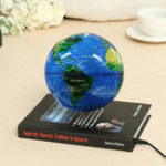 New 6 Inch Levitation Magnetic Rotate Globe Floating Levitating Earth Map With Bookbase Xmas Gift