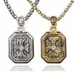 New Vintage Pendant Necklace Alloy Chain Irregular Geometric