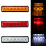 New 12V 0.12A 1.5W 7 LED Car Tail Light Turn Signal Brake Reversing Lamp Side Marker Light