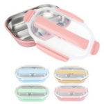 New Thermal Insulated Stainless Steel Lunch Box Picnic Bento Food Storage Container