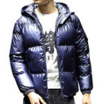 New Mens Stylish Bright Color Winter Thick Warm Padded Jacket