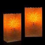 New 10PCS Sunshine Paper Lantern Candle Bag Tea Light Holder for Christmas Wedding Home Decoration
