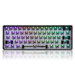 New Geek Customized GK61 Hot Swappable 60% RGB Keyboard Customized Kit PCB Mounting Plate Case