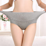 New 4XL Plus Size High Waist Jacquard Cotton Panties