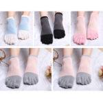 New Women Girls Simple Five-Toe Socks 5-Pair Set Ankle Socks