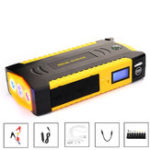 New Dispaly 89800mAh Car Jump Starter Booster 4USB SOS Emergency Charger Battery