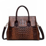 New Women Retro Crocodile Pattern Handbag