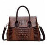 New Women Retro Crocodile Pattern Handbag