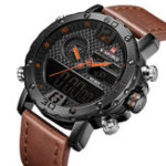 New NAVIFORCE NF9134 Chronograph Dual Display Watch