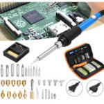 New 37Pcs Solder Iron Tool Kit Wood Burning Kit Adjustable Temperature with Iron Pen