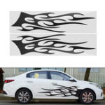 New 149cm*42cm Sports Stripe Pattern Style Car Stickers Vinyl Decal for Race SUV Side Body