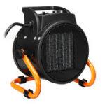 New 220V 2KW Industrial Fan Heater Electric Heater Fan Tilting Round for Industrial Workshop Garage