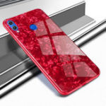 New Bakeey Shell Glossy Soft Frame Hard Back Tempered Glass Protective Case for Huawei Honor 8X Max