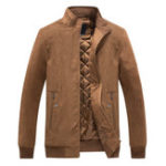 New Mens Stand Collar Big Size Windproof Cotton Slim Jacket