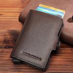 New RFID Multi-function Genuine Leather Metal Card Package