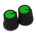 New 50Pcs Green Plastic For Rotary Taper Potentiometer Hole 6mm Knob