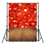 New 3x5FT Vinyl Valentine's Day Red Heart Photography Backdrop Background Studio Prop