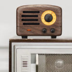 New Maoking MW-2 The Little Prince Bluetooth 4.0 Wooden 5W Speaker FM Radio Receiver Support USB AUX