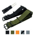 New Bakeey Replacement Nylon 24mm Watch Band Adapter for Suunto Core Nato Long  Watch