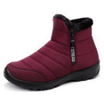 New Women Winter Waterproof Boots Fur Lining Snow Boots