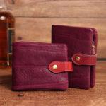 New Brenice Women Genuine Leather Vintage 7 Card Slots Wallet
