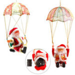 New Santa Claus Ornament Hanging Parachute Turn Circle Acrobatics Stuffed Plush Toy Christmas Decoration
