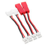 New 4PCS 3.7V 1S Battery Charger Charging Cable JST MX2.0 Plug for AirJugar YF-CG001 Charger