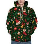 New Men's Fashion Christmas Hooded Printing Sweatshirt