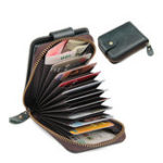 New RFID Genuine Leather 9 Card Slot Wallet Vintage Soft Wallet