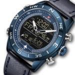 New NAVIFORCE NF9144 Water Resistant LED Dual Display Watch