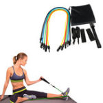 New KALOAD 11 Pcs Pull Rope Kits Fitness Resistance Bands Exercises Sport Body Training Yoga Equipment
