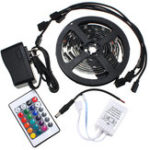 New 4PCS 50cm 5050 RGB LED Color Changing Waterproof Mood Lighting TV Background Fish Tank Decor Lamp With 24 Keys Romote Control