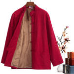 New Vintage Chinese Style Mandarin Collar Fleece Warm Tang Suit