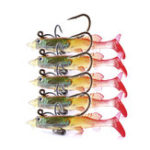 New ZANLURE 5pcs/set 6cm 4g Soft Plastic Wobblers Artificial Bait Silicone Fishing Lure Sea Bass Carp