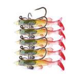 New ZANLURE 5pcs/set 6cm 4g Soft Plastic Wobblers Artificial Bait Silicone Fishing Lure Sea Bass Carp