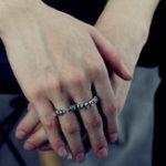 New 925 Sterling Silver Gothic Skull Skeleton Band Finger Ring