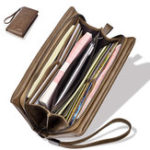 New Vintage 12 Card Slots Faux Leather Phone Wallet Card Holder