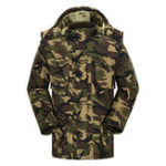 New Mens Military Outdoor Camouflage Thick Fleece Warm Parka