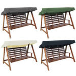 New 235x120x18cm 3 Seaters Swing Chair Waterproof Cover Swing Roof Outdoor Top Canopy Tent Sunshade