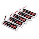 New 5Pcs URUAV 3.8V 450mAh 50/100C 1S HV 4.35V Lipo Battery PH2.0 for Emax Tinyhawk Happymodel Snapper7