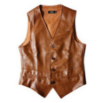 New Mens Cool PU Faux Leather Formal Business Slim Fit Waistcoat
