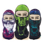 New Unisex Multi-Function Skull Printing Outdoor Riding Mask Hat