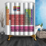 New 180x180cm Creative Periodic Table of Elements Shower Curtain Polyester Bathroom Decor