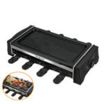 New Electric BBQ Grill Indoor Barbecue Raclette Non-Stick Cooking BBQ Griddle Table Top