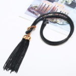 New Ethnic Pendant Long Necklace Tassel Double Pendants Wax Rope